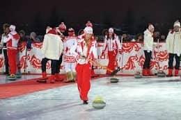 Международный турнир по керлингу на Красной площади
